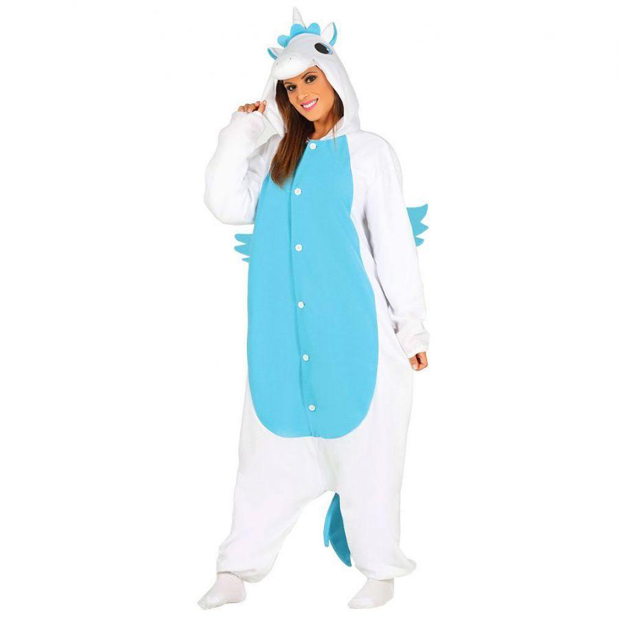 varietà larghe sfumature di fornitore ufficiale Costume Unicorno Celeste Adulto