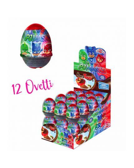 12 Ovetti Cioccolato Pj Masks Dolci Preziosi con Sorpresa