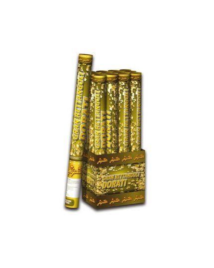 12 Tubi Sparacoriandoli Rettangoli Oro 45cm