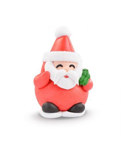 Set Decorazioni Torta in Zucchero Babbo Natale 4 Pz
