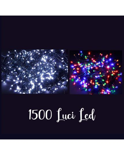 Filo Verde 1500 Luci LED Colorati 60 Metri