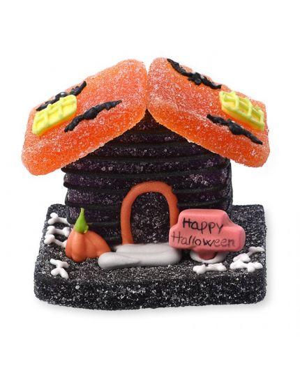 Set Decorazioni Torta in Zucchero e Gelatina Casette Halloween 3 Pz