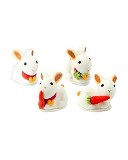 4 Coniglietti Pasquali in Zucchero