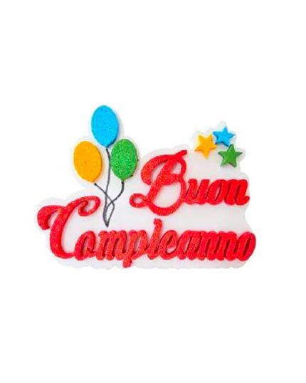 Decorazione da Tavolo Buon Compleanno Polistirolo