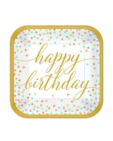 Piatti Carta Confetti Fun Happy Birthday