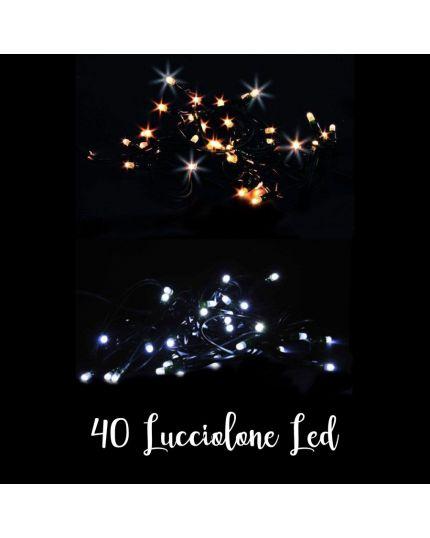 Filo Verde 40 Lucciolone Led Colorate 4 Metri