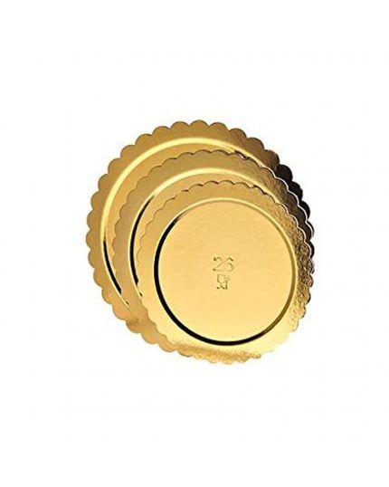Vassoio Sottotorta Oro Circolare Dimensioni Assortite 5 Pz