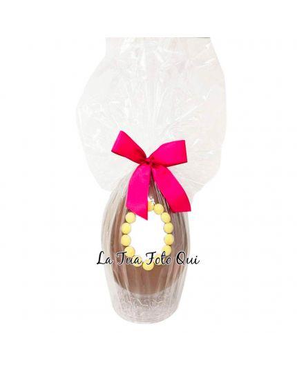 Uovo Pasqua Artigianale Personalizzabile con Foto Varie Dimensioni
