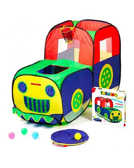 Tenda Trenino Pop Up Per Bambini 170x76x103 Cm