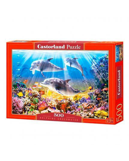 Puzzle Delfini Sotto Acqua 500 Pezzo 47x33 Cm