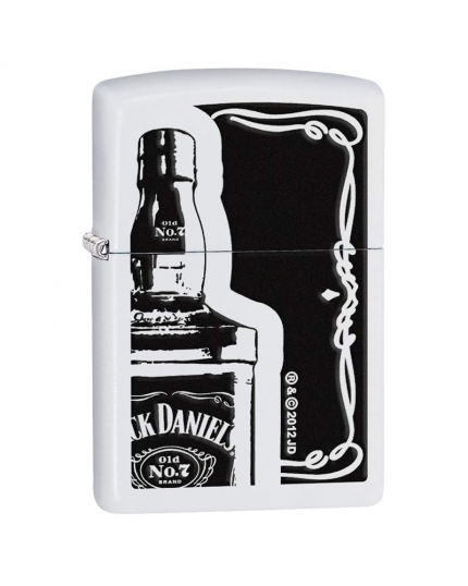 Zippo Accendino Jack Daniel's Bottiglia in Bianco Nero