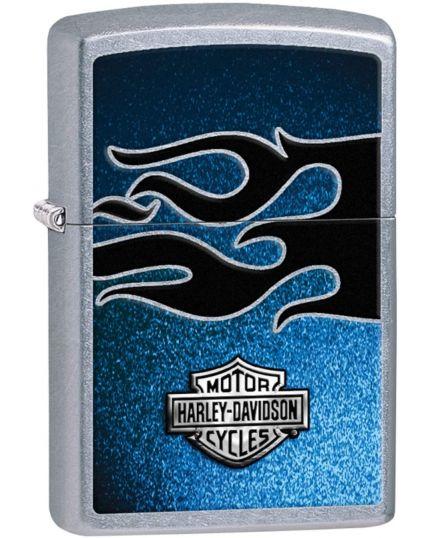 Zippo Accendino Harley Davidson Fiamma Nero Blu