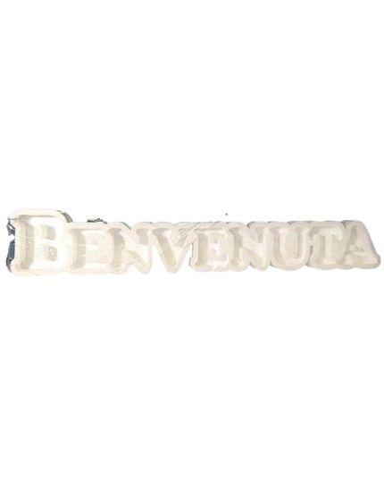 Struttura Porta Confetti in Polistirolo Scritta Benvenuta