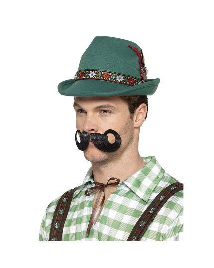 Cappello Alpino Verde con Piuma
