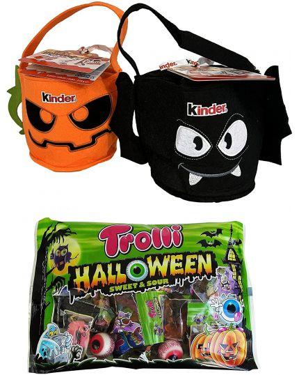 Kit Halloween Dolcetto o Scherzetto Borsetta Kinder + Caramelle Horror