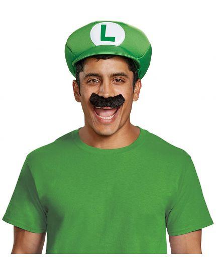 Kit Luigi da adulto cappello e baffi
