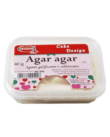 Agente Gelificante Addensante Agar Agar Graziano 40gr