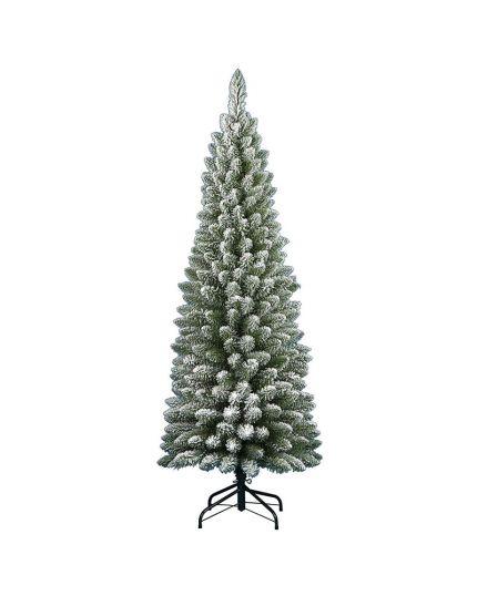 Albero Natale Slim Penicel Innevato Verde Varie Dimensioni