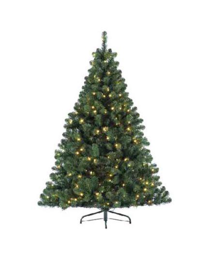 Albero Natale Pino Imperiale Verde con Luci Bianco Caldo Varie Dimensioni