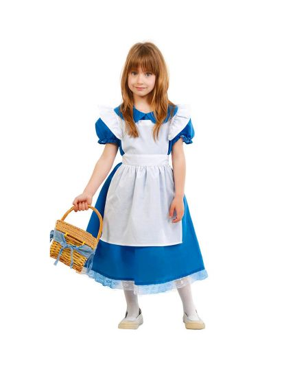 Costume Alice Bambina Blu