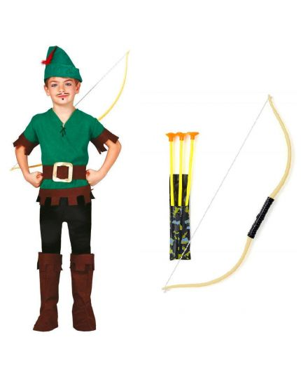 Costume Robin Hood Fuorilegge Bambino con Arco
