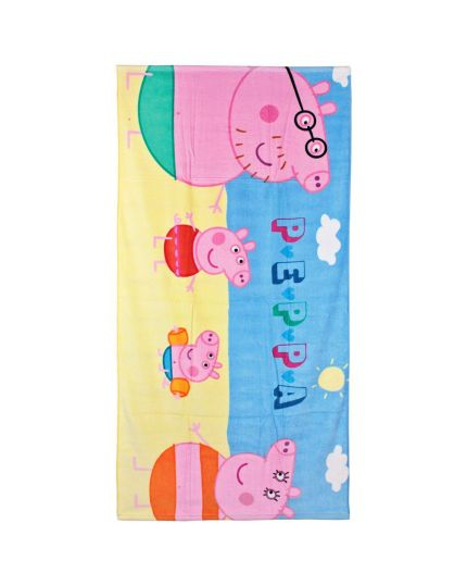 Asciugamano Telo Mare Peppa Pig 70x140cm