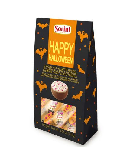 Astuccio Cioccolatini Happy Halloween con Popping Candy Fragola Sorini