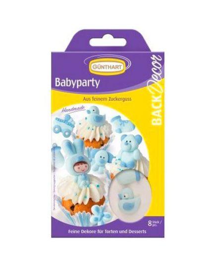 Decorazioni Bebè Nascita Azzurro in Zucchero Gunthart
