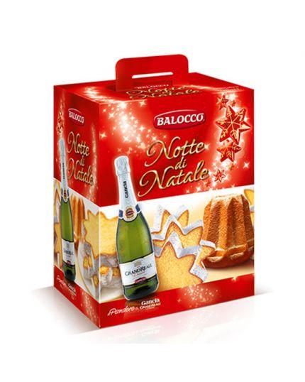 Confezione Regalo Balocco Notte di Natale Pandoro e Spumante