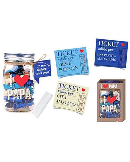 Barattolo Ticket 52 Cose da Fare con il Papà