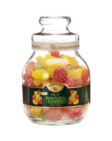 Barattolo Vetro Caramelle alla Frutta 966gr