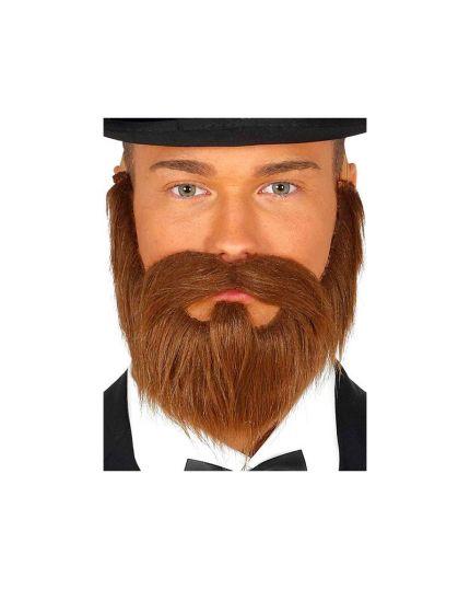 Barba e Baffi Marroni Amish