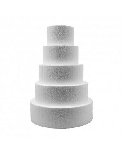 Base per Torte Polistirolo Rotonda Altezza 10cm Varie Dimensioni Poliart