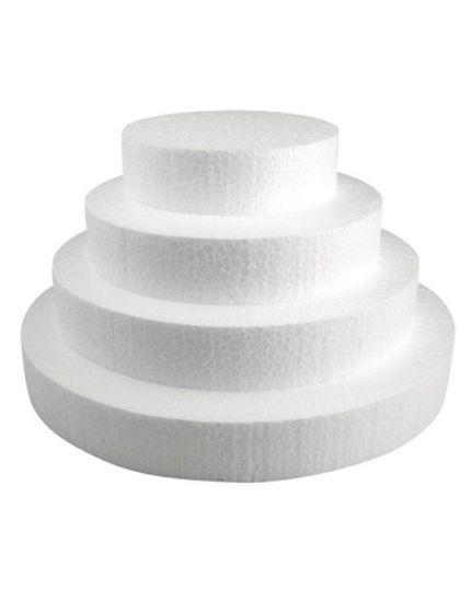 Base per Torte Polistirolo Rotonda Altezza 5cm Varie Dimensioni Poliart