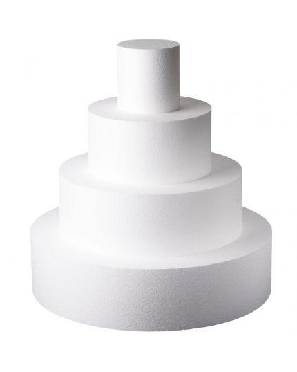 Base per Torte Polistirolo Rotonda Altezza 7,5cm Varie Dimensioni Poliart