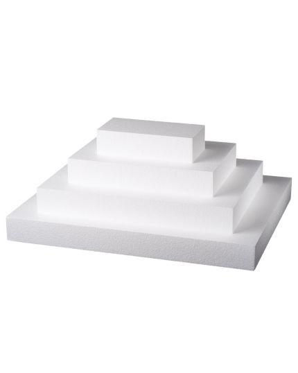 Base per Torte Polistirolo Rettangolare Altezza 7,5cm Varie Dimensioni Poliart