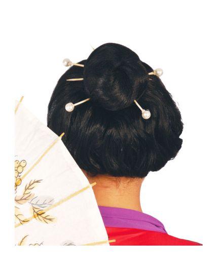 Bastoncini per Capelli con Perle per Acconciature Giapponesi
