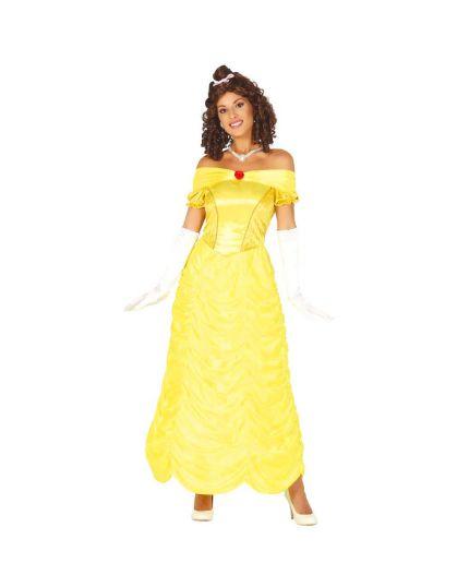 Costume Belle Principessa Gialla Donna