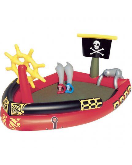 Piscina Gonfiabile Con Giochi Dei Pirati 191x140x97 Cm