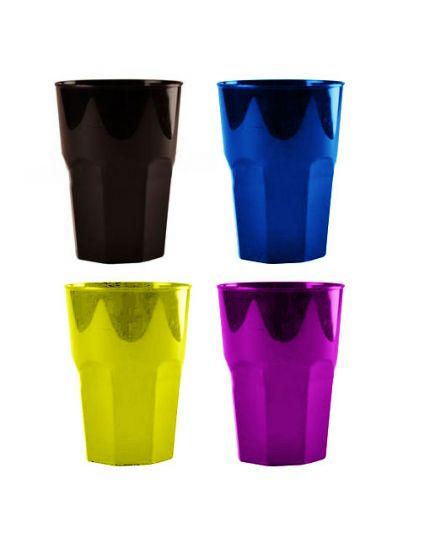 Bicchieri Cocktail Pvc Colorati 350cc