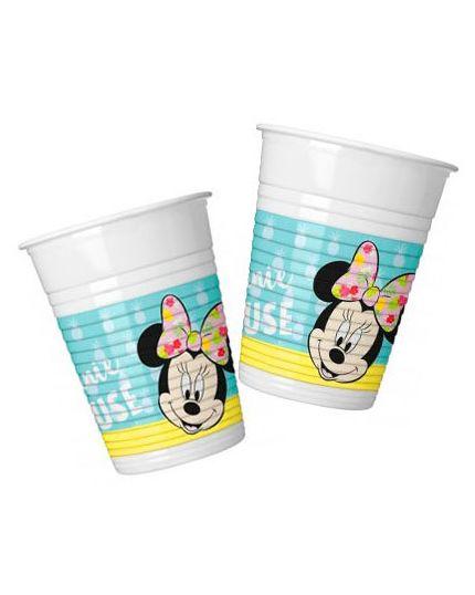 Bicchieri Plastica Minnie Tropical Fenicotteri