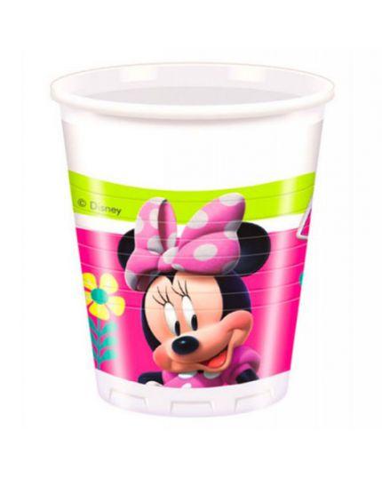 Bicchieri Plastica Minnie