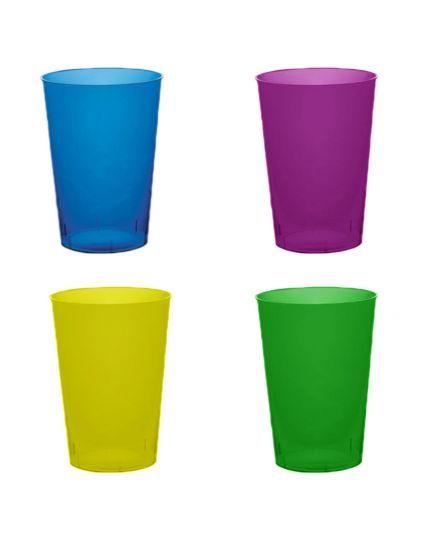 Bicchieri Pvc Trasparenti Colorati 50pz