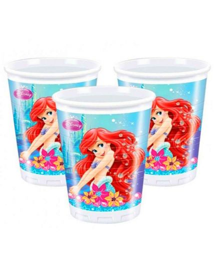 Bicchieri Plastica Ariel Sirenetta