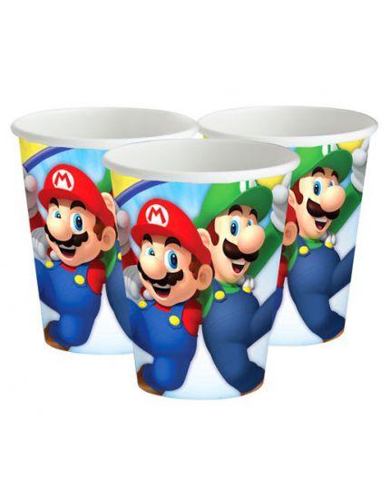 Bicchieri Carta Super Mario