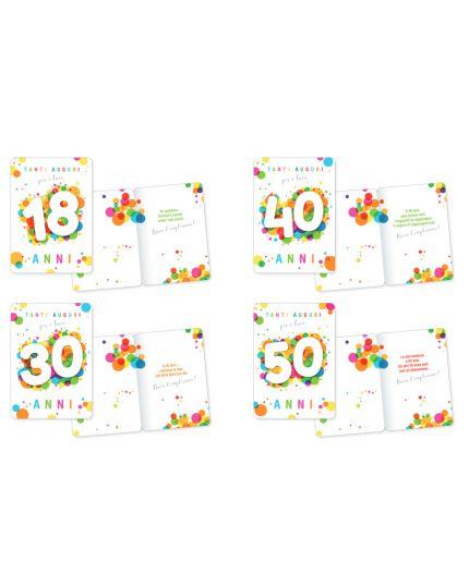 Biglietto Auguri Compleanno Bubble Multicolor 16x11cm