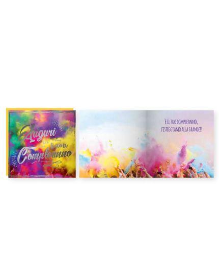 Biglietto Auguri Musicale con Busta Compleanno Holi 15x15cm