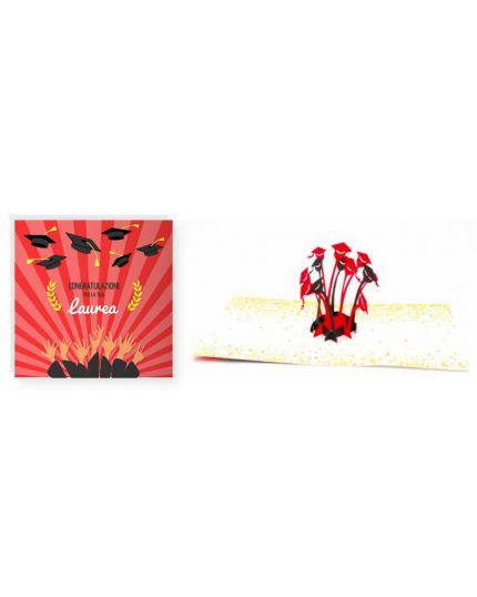 Biglietto Auguri Origami con Busta Laurea 15x15cm