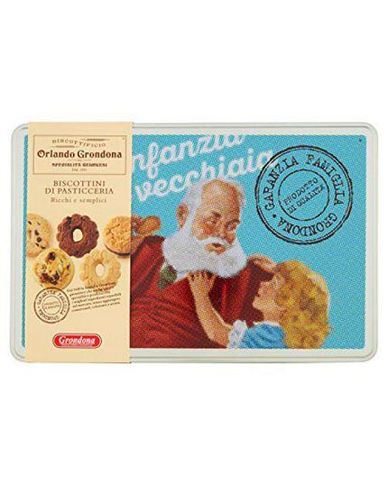 Biscottini di Pasticceria in Confezione Latta Orlando Grondona 310gr