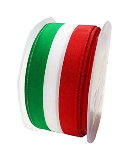 Bobina Nastro Tricolore Italia Tessuto Non Lucido Spessore 5cm